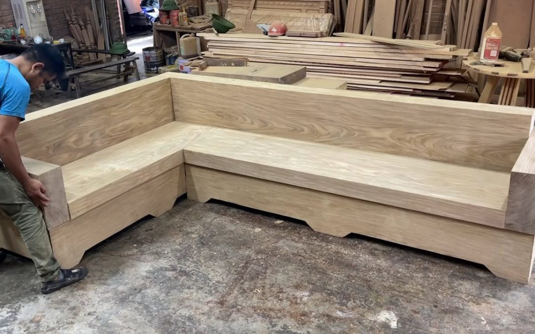 Amazing Techniques Woodworking Skills Ingenious – Build A Extreme Big And Beautiful Monolithic Sofa