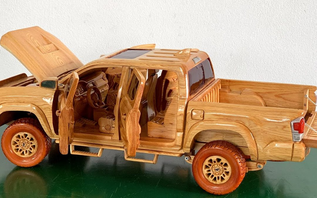 Wood Carving – Tacoma Toyota unique beauty through creative hands of carpenter – Woodworking Art